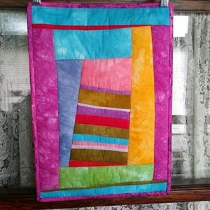 Abstract Quilted Wall Hanging Tower of Pisa